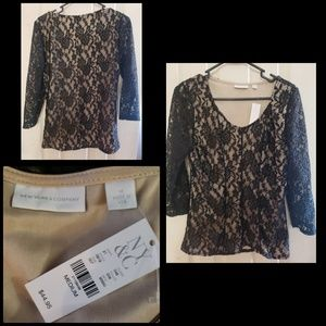 Lace blouse size medium